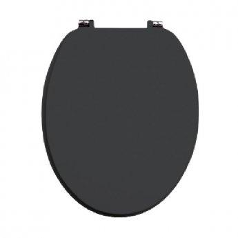 Orbit Vinyl Wrap MDF Soft Close Toilet Seat with Top Fix - Graphite Grey