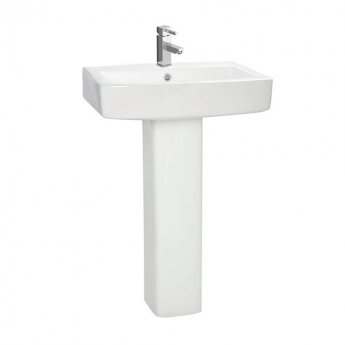 Orbit Vola Basin with Full Pedestal 570mm Wide - 1 Tap Hole