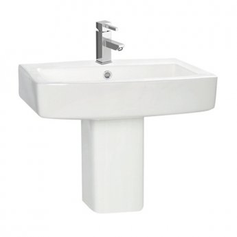 Orbit Vola Basin with Semi Pedestal 570mm Wide - 1 Tap Hole