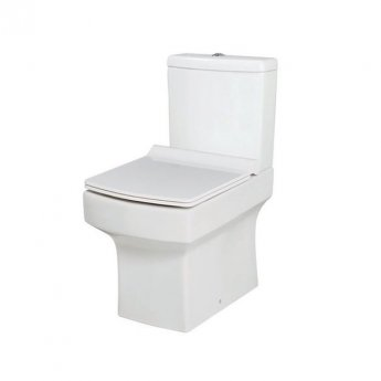 Orbit Vola Close Coupled WC Toilet with Push Button Cistern - Soft Close Seat
