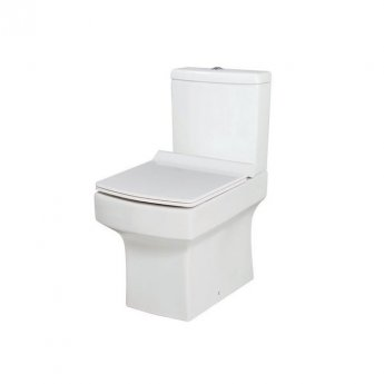 Orbit Vola Close Coupled WC Toilet with Push Button Cistern - Slimline Seat