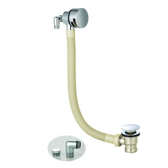 Orbit Round Bath Filler with Sprung Waste and Overflow - Chrome