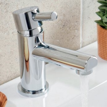 Orbit Zico Mono Basin Mixer Tap with Push Button Waste - Chrome