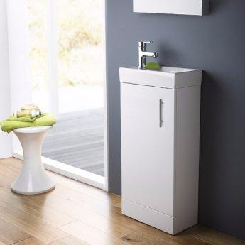 Bliss Furniture Bathroom Suite with Floor Standing Vanity Unit - 400mm Wide