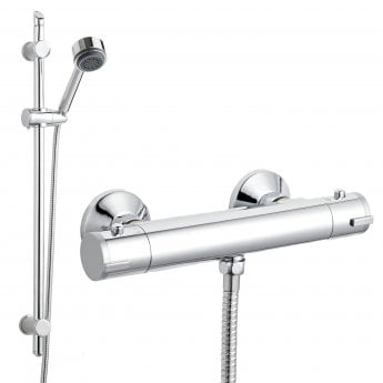 Premier Value Slimline Bar Mixer Shower with Shower Kit
