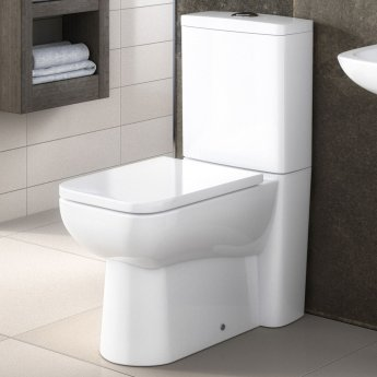 Nuie Ambrose Back to Wall Toilet with Push Button Cistern - Excluding Seat
