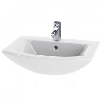 Premier Asselby Wall Hung Cloakroom Basin 500mm Wide - 1 Tap Hole