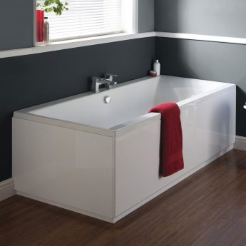 Nuie Asselby Double Ended Rectangular Bath 1700mm x 700mm - Acrylic