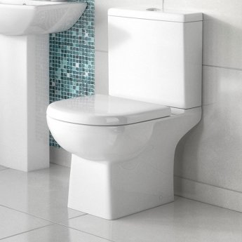 Premier Asselby Close Coupled Toilet WC Push Button Cistern - Excluding Seat