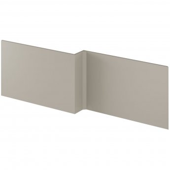 Nuie Athena Square Shower Bath Front Panel 520mm H x 1700mm W - Stone Grey