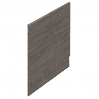 Hudson Reed MDF Straight Bath End Panel and Plinth 550mm H x 700mm W - Brown Grey Avola
