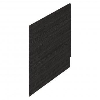 Hudson Reed MDF Straight Bath End Panel and Plinth 550mm H x 700mm W - Hacienda Black