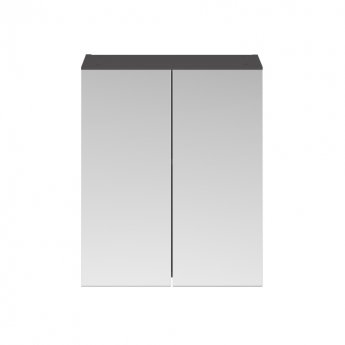 Premier Athena Mirrored Cabinet (50/50) 600mm Wide - Gloss Grey