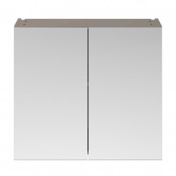 Premier Athena Mirrored Cabinet (50/50) 800mm Wide - Stone Grey