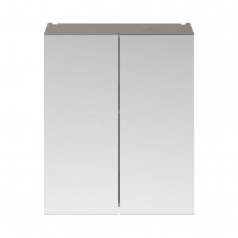 Premier Athena Mirrored Cabinet (50/50) 600mm Wide - Stone Grey