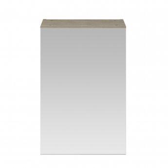 Nuie Athena 1-Door Mirrored Bathroom Cabinet 715mm H x 450mm W - Driftwood