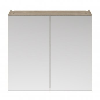 Nuie Athena Mirrored Cabinet (50/50) 800mm Wide - Driftwood