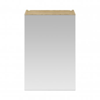Premier Athena 1-Door Mirrored Bathroom Cabinet 715mm H x 450mm W - Natural Oak