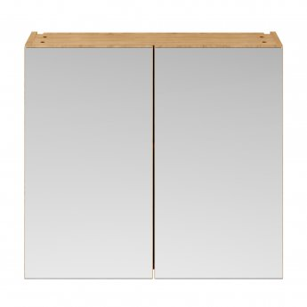 Premier Athena Mirrored Cabinet (50/50) 800mm Wide - Natural Oak