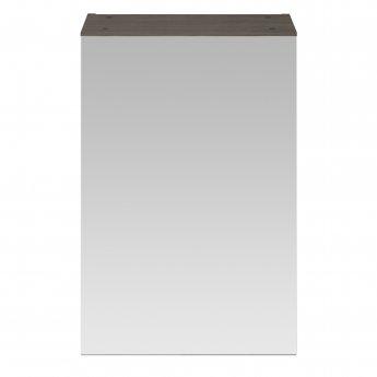 Nuie Athena 1-Door Mirrored Bathroom Cabinet 715mm H x 450mm W - Brown Grey Avola