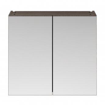 Premier Athena Mirrored Cabinet (50/50) 800mm Wide - Brown Grey Avola