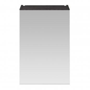 Premier Athena 1-Door Mirrored Bathroom Cabinet 715mm H x 450mm W - Hacienda Black