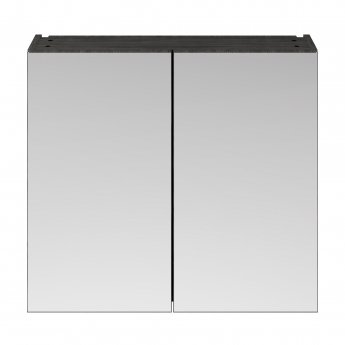 Nuie Athena Mirrored Cabinet (50/50) 800mm Wide - Hacienda Black