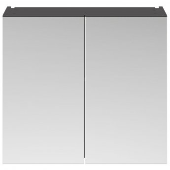Nuie Athena Mirrored Cabinet (50/50) 800mm Wide - Gloss Grey