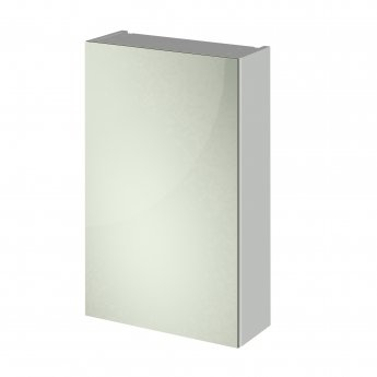 Nuie Athena 1-Door Mirrored Bathroom Cabinet 715mm H x 450mm W - Gloss Grey Mist