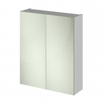 Nuie Athena (50/50) Mirrored Bathroom Cabinet 715mm H x 600mm W - Gloss Grey Mist