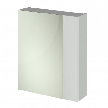 Nuie Athena Mirrored Cabinet (75/25) 600mm Wide - Gloss Grey Mist