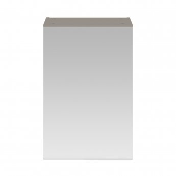 Premier Athena 1-Door Mirrored Bathroom Cabinet 715mm H x 450mm W - Stone Grey
