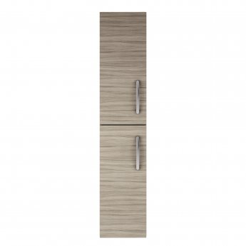 Nuie Athena Wall Hung 2-Door Tall Unit 300mm Wide - Driftwood