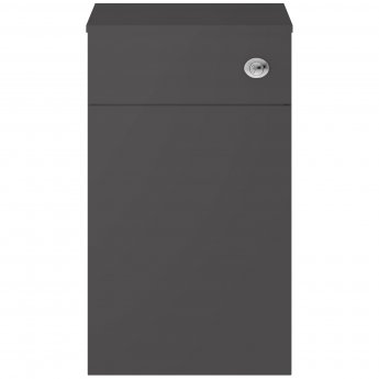 Nuie Athena Back to Wall WC Toilet Unit 500mm Wide - Gloss Grey