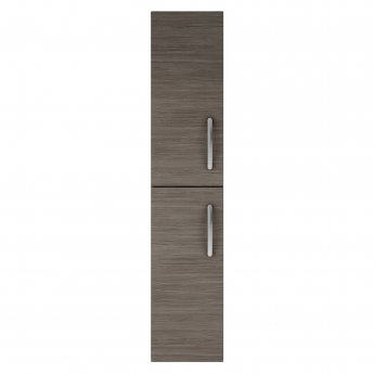 Nuie Athena Wall Hung 2-Door Tall Unit 300mm Wide - Brown Grey Avola