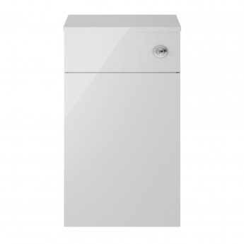 Nuie Athena Back to Wall WC Toilet Unit 500mm Wide - Gloss Grey Mist