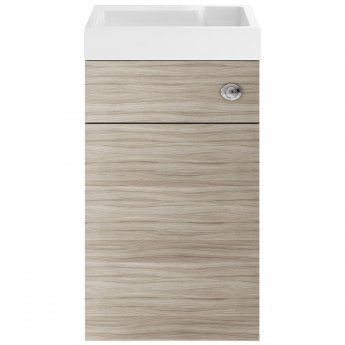 Nuie Athena Toilet and Basin Combination Unit 500mm Wide - Driftwood