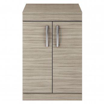 Premier Athena Floor Standing 2-Door Vanity Unit and Worktop 600mm Wide - Driftwood