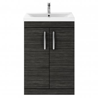Premier Athena Floor Standing 2-Door Vanity Unit with Basin 1 Hacienda Black - 600mm Wide