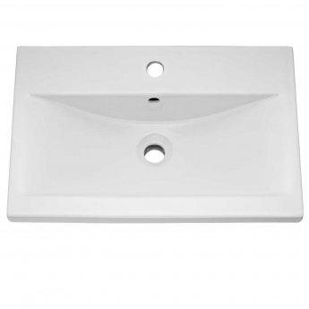 Premier Athena Floor Standing 2-Drawer Vanity Unit with Basin 1 Hacienda Black - 600mm Wide