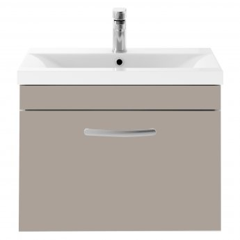 Premier Athena Wall Hung 1-Drawer Vanity Unit with Basin 2 Stone Grey - 600mm Wide