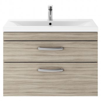 Premier Athena Wall Hung 2-Drawer Vanity Unit with Basin 1 Driftwood - 800mm Wide