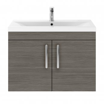 Premier Athena Wall Hung 2-Door Vanity Unit with Basin-3 800mm Wide - Brown Grey Avola