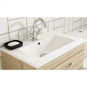 Premier Athena Wall Hung 2-Door Vanity Unit with Basin-2 500mm Wide - Gloss Grey Mist