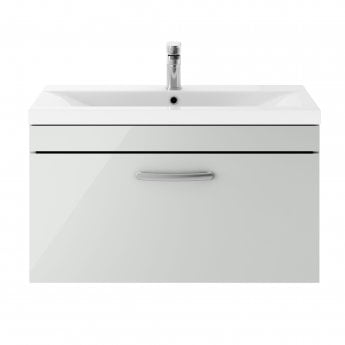 Premier Athena Wall Hung 1-Drawer Vanity Unit with Basin-3 800mm Wide - Gloss Grey Mist