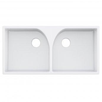 Nuie Athlone Ceramic Kitchen Sink 2.0 Bowl 795mm L x 500mm W - White