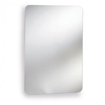 Nuie Austin Mirrored Cabinet 660mm H x 460mm W Stainless Steel