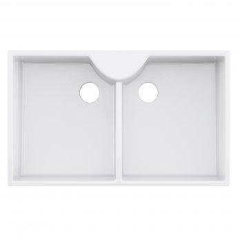 Premier Bandon Butler Ceramic Kitchen Sink 2.0 Bowl 895mm L x 550mm W - White