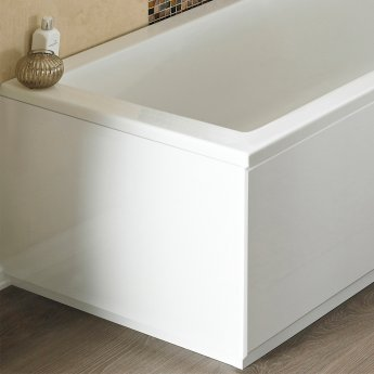 Nuie MDF Bath End Panel and Plinth 560mm H x 800mm W - Gloss White