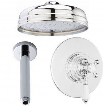 Nuie Beaumont Dual Concealed Mixer Shower Valve with Fixed Head